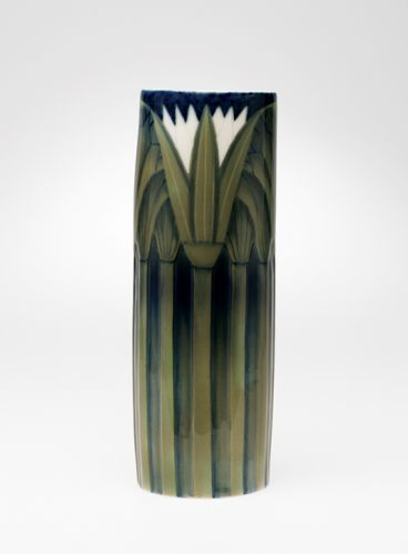 Egyptian Revival vase ca. 1902 Bing & Grøndahl glazed porcelain
