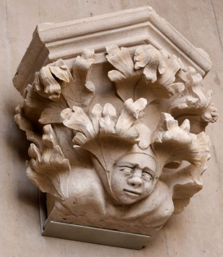 French Corbel Cathedral Peter Paul Troyes Cornell