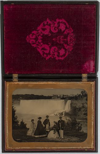 View of Niagara Falls unknown photographer ambrotype ca.1860 Johnson Museum Cornell
