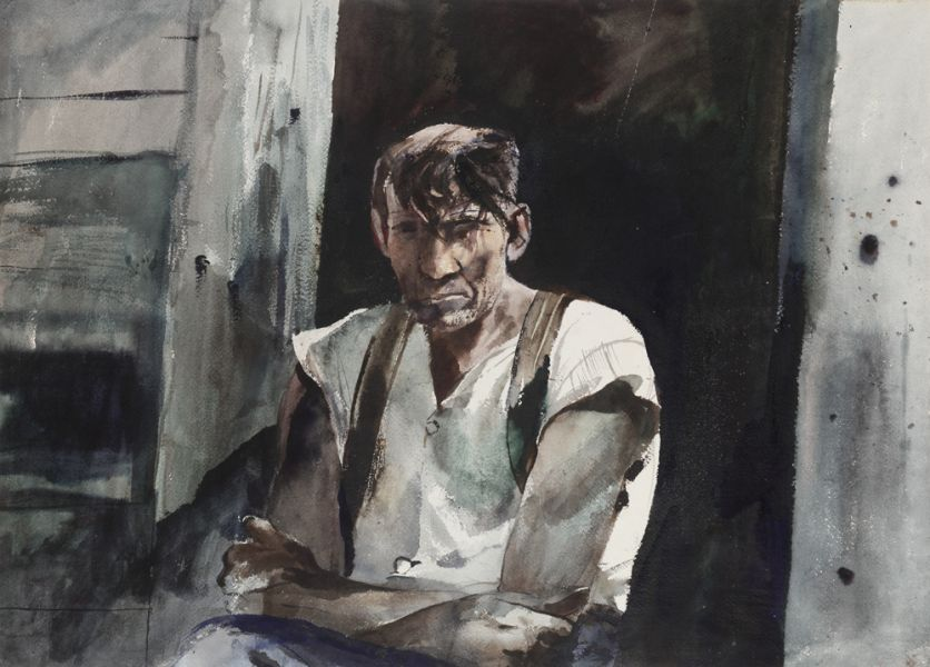 Andrew Wyeth Pulp Woodsman 1945 watercolor