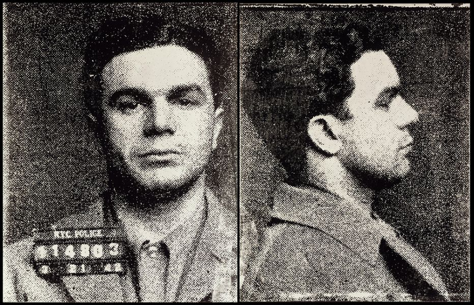 Mugshot images of a white man from the front and in profile