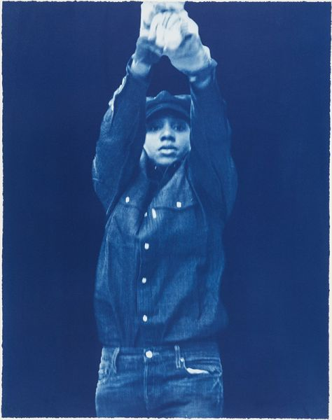 LaToya Ruby Frazier If Everybody's Work Is Equally Important? (II) 2017 four cyanotypes suite Johnson Museum Cornell