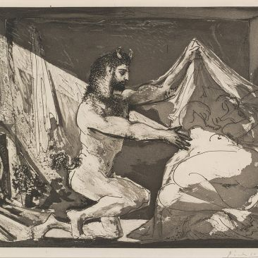 Picasso Faune Dévoilant une Femme Satyr and Sleeping Woman 1936