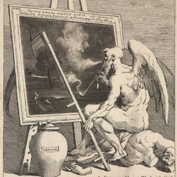 William Hogarth Time Smoking a Picture