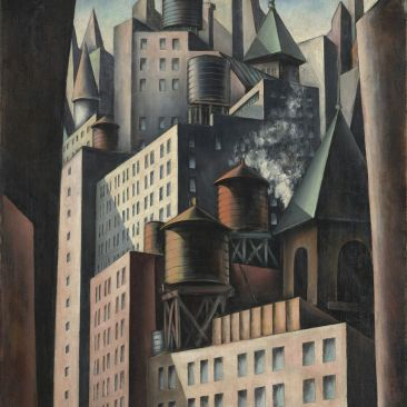 Bumpei Usui 14th Street 1924 Virginia Museum of Fine Art