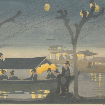 Bertha Lum On the River 1913 Johnson Museum