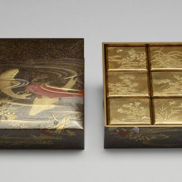 Japan Meiji lacquer incense boxs Walters Art Museum Baltimore