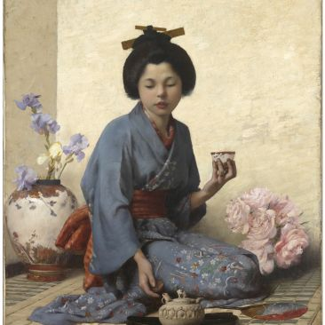Charles Sprague Pearce A Cup of Tea Smith College Museum of Art