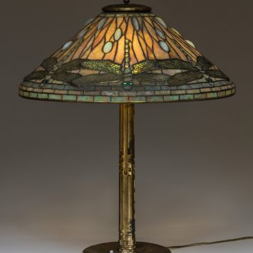 Tiffany & Co Clara Driscoll designer Dragonfly lamp ca. 1912 Johnson Museum