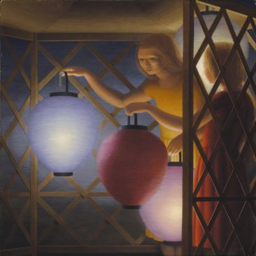 George Tooker In the Summerhouse 1958 Smithsonian American Art Museum. © Estate of George Tooker