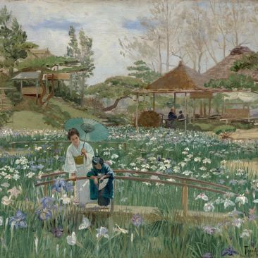 Theodore Wores Iris Flowers of Hori Kiri Crocker Art Museum