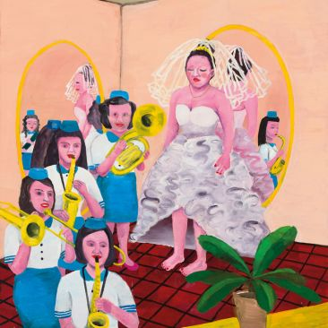 Huang Hai-Sin Bride and Her Marching Band 2012 Oil on canvas Collection of the Taipei Fine Arts Museum Taiwan