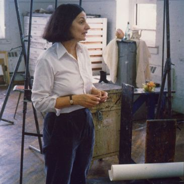 Mikus teaching in Tjaden Hall, ca. 1988 (Photo courtesy of the artist's estate)